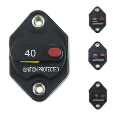 15-40A Car Push Manual Reset Button Circuit Breaker Switch Overload Protector