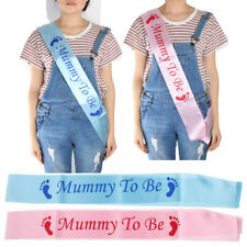 Boy Girl Mummy To Be Baby Shower Party Sash Banner Ribbon Party Favors New Mom