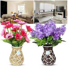 Simulation Artificial Rattan Vase Flower Basket Home Decor White Vase Container