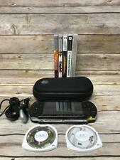 Sony PSP 1001 Handheld System with Car Charger, Case, Games and Movies - Tested