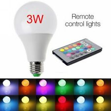 E27 3W 85-265V RGB LED Lamp Light Bulb Changing 16 Colors +IR Remote Control #hh