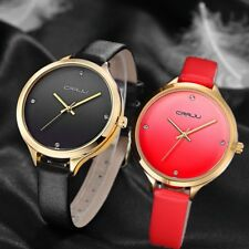 Luxury Watch Fashion Casual Quartz Watch Crystal Female Sport Leather Wristwatch
