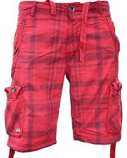 Red Bridge by Cipo & BAXX CARGO SHORTS rb-1204 Red Check