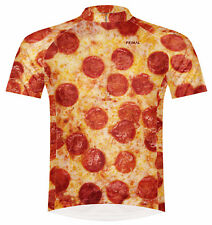 Primal Wear Pizza Cycling Jersey Mens short sleeve bicycle bike with DeFeet sox