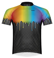 Primal Wear Paint Drip Cycling Jersey Mens bicycle bike with DeFeet socks