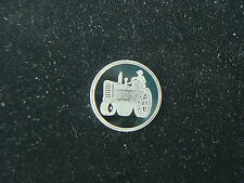 1 GRAM .999 SILVER TRACTOR ROUND COIN BAR FOR FARMER WITH DEERE IHC FORD FARMALL