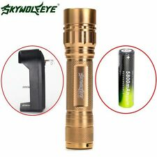 Zoomable 3-Mode Zoomable 15000LM XM-L T6 LED Flashlight Torch Lamp 18650+Charger