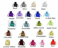 "SATIN bags 4 each 4"" x 6"" draw string bag multi color wedding jewelry shower"