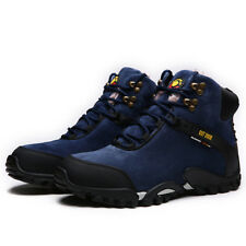 Men's Martin Boots Lace Up New Leather Ankle Boots Winter Outdoor Velveteen 621