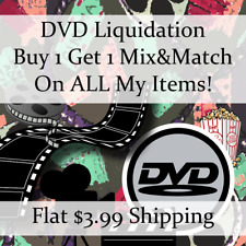 Used Movie DVD Liquidation Sale ** Titles: A-B #696 ** Buy 1 Get 1 flat ship fee