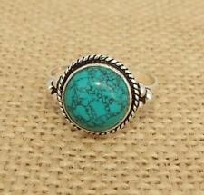 Turquoise Howlite 925 Silver Ring Indian Jewellery