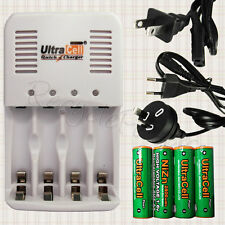 2A AA  NiZn 2800mWh 1.6V Battery w Rechargeable Quick Charger EU AU US plug