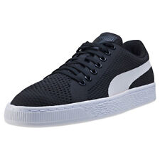 Puma Basket Classic Evoknit Mens Trainers Black White New Shoes