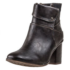 Mustang Heeled Ankle Boot Womens Ankle Boots Dark Brown New Shoes