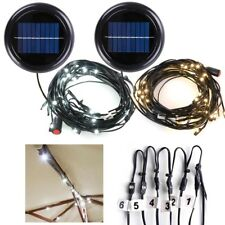 30 LED Solar String Light Fit 6-Rib 8ft 9ft Wooden Outdoor Patio Umbrella