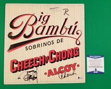 "CHEECH AND CHONG SIGNED ""BIG BAMBU"" LP ALBUM CERTIFIED AUTHENTIC WITH BAS COA"