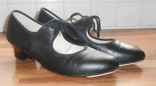 Womans Capezio Tele Tone Black Heeled Tap Shoes Heel & Toe UK 8.5