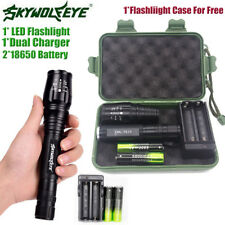 Tactical 20000LM 5 Modes T6 LED Torch Flashlight Light &18650Battery &Charger K1