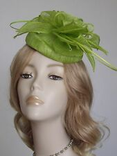 FAILSWORTH LIME GREEN SINAMAY PILLBOX  HATS, With quills,Brand new