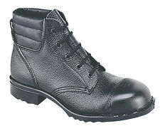 Mens New Black Grain Leather External Cap Traditional Cadet Safety Boots