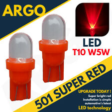 Bright Led Xenon Power Side Light 501 W5w 158 168 T10 Super Hid Red Bulbs 12v