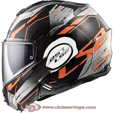 Casco modular LS2 VALIANT FF399 ROBOTO Black Orange Chrome talla S