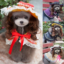 Pet Supplies Dog Clothing Dress Cloaks Puppy Hat Princess Wig Costume Cosplay