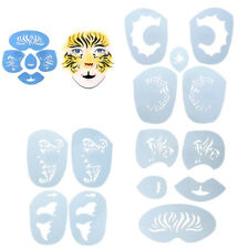 Reusable Body Art Eye Face Paint Stencil Template Set Fancy Party Makeup