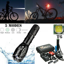 50000 Lm XML T6 LED Zoom Flashlight Tactical Torch Tail Light 18650 Charger Sets