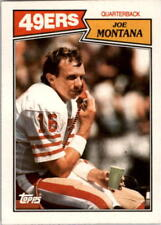 1987 Topps Football Cards Pick From List Includes Rookies 1-250