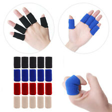 10Pcs Stretchy Finger Protector Sleeve Support Arthritis Sport Aid Straight Wrap