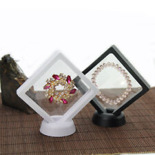 Clear Jewelry Suspended Coins Floating Display Case Stand Holder Box Easy Use