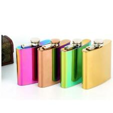 6oz Gradients Color FLASK Night Out Party Stainless Steel Hip Pocket Liquor