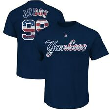AARON JUDGE #99 NEW YORK YANKEES MAJESTIC STARS AND STRIPES NAVY T-SHIRT NWT