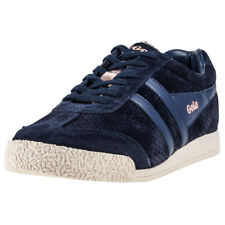Gola Harrier Glimmer Womens Navy Suede Trainers