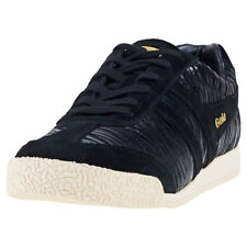 Gola Harrier Womens Black Suede Trainers