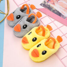 Cute Kids Boy Girl Slippers Toddler Baby Warm Indoor Shoes Winter Slippers Soft