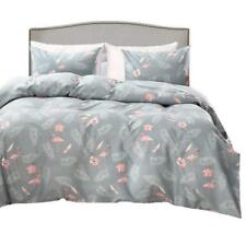 Flamingo Duvet Cover Set Queen Size, Flower Leaf Feather and Pattern Printed...