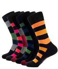 Mens Bamboo Casual Crew Socks 3 Pack Lightweight Anti Odor Socks Large & X-Large