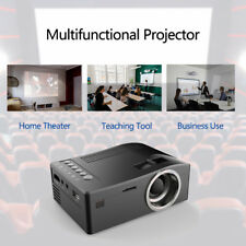UC18 LCD LED Projector Mini Portable Support 1080P HD Home Theater Cinema R6G4