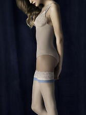 Fiore Innocent Sheer Hold Ups 20 Denier Lace Tops Blue band Suitable for Brides