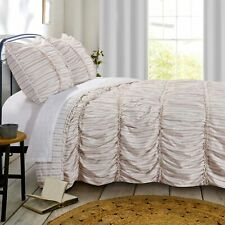Greenland Home Fashion Farmhouse Chic Reversible Quilt & Pillow Sham Set, Red
