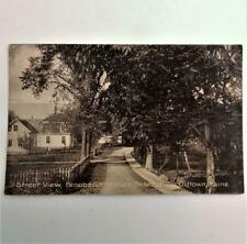 Antique Street Scene Postcard View Penobscot Indian Reservation Old Town Maine