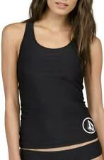 Volcom Black Simply Solid Racerback Tankini Swimsuit Top XL NWT NEW $42