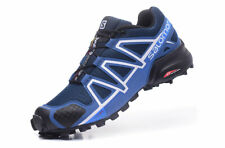 Men's Salomon Speedcross 4 Athletic Running Sports Outdoor Hiking Shoes Blue