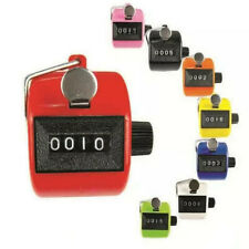 Portable Golf Chrome Color Digital Tally Clicker Counter4Digit Number mechanical