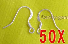 Wholesale 50 Pairs Sterling Silver S925 Earring Hooks Jewelry Making who106