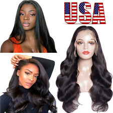 """8""""-18"""" Brazilian Lace Front Wigs Virgin Human Hair Full Lace Wigs Baby Hair US"""