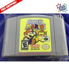 Paper Mario Nintendo 64 Video Game Cartridge for N64 Console US Version New