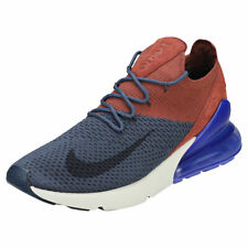 Nike Air Max 270 Flyknit Mens Blue Brown Mesh & Textile Running Trainers